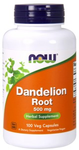 NOW FOODS Dandelion root 500mg, 100vcaps. - mniszek