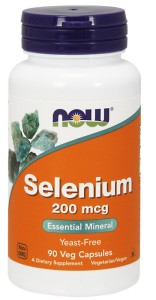 NOW FOODS Selenium 200mcg, 90vcaps.