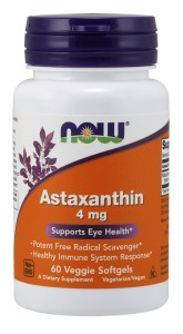 NOW FOODS Astaxanthin 4mg, 60vsgls. - Astaksantyna