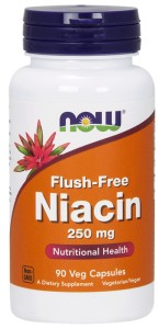 NOW FOODS Niacin Flush-Free 250mg, 90vcaps. - Niacyna - Witamina B-3 - PP