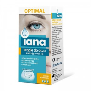 IANA Krople do oczu OPTIMAL nawilżające 0,1% HA 10ml STARPHARMA