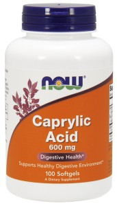 NOW FOODS Caprylic Acid 600mg, 100sgels. - kwas kaprylowy