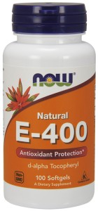 NOW FOODS Witamina E-400 naturalna, 100sgels.