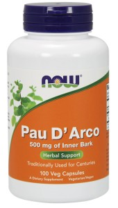 NOW FOODS Pau D'arco 500mg, 100vcaps.