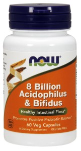 NOW FOODS 8 Billion Acidophilus & Bifidus 60vcaps.